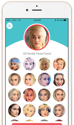 Dating.ai Mobile App  Dating with Face Search - Artificial Intelligence